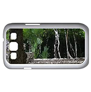 Mayan Ruins Coba (Religious Series) Watercolor style - Case Cover For Samsung Galaxy S3 i9300 (White)