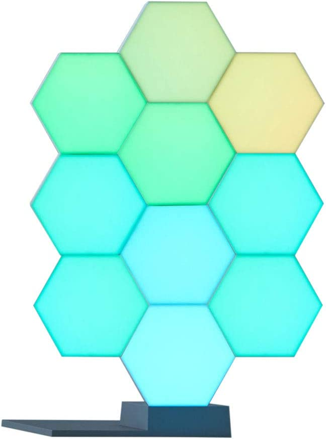 Yescom WiFi Smart LED Light Kit 10 Blocks with Base 16 Million Color Cololight Work with Alexa Google Home Decor
