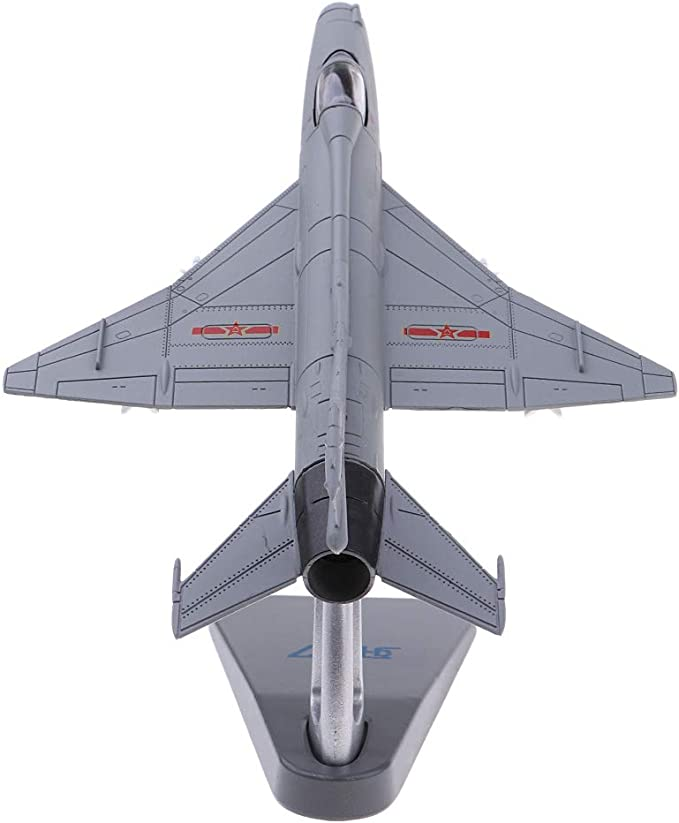 IPOTCH Fighter 1//72 Military Aircraft China Chengdu J-7 Fishcan Diecast Display Model with Stand for Decoration or Collection Gift
