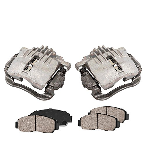 CCK02447 [2] REAR Premium Loaded OE Caliper Assembly Set + [4] Quiet Low Dust Ceramic Brake Pads