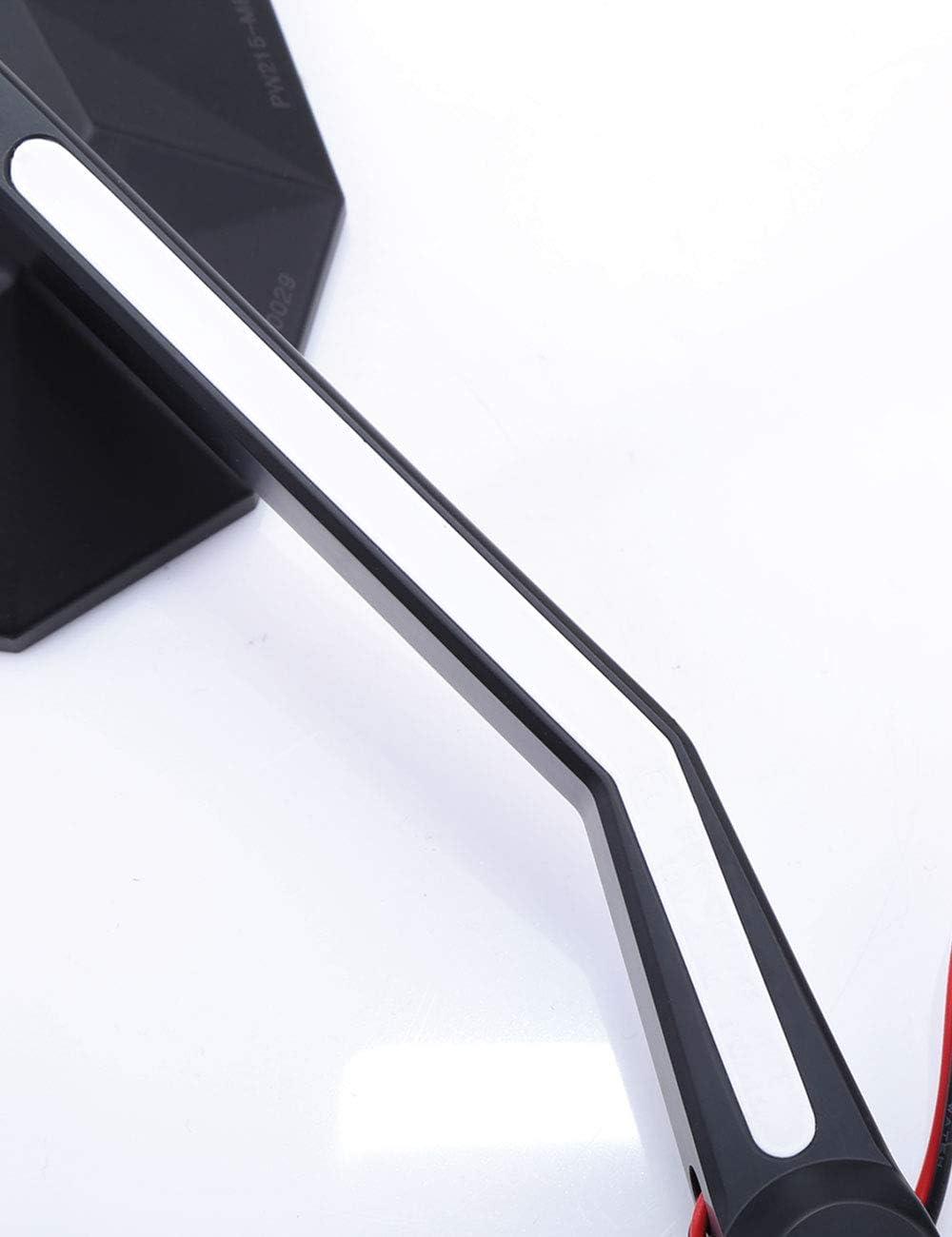 HIGHSIDER Motorrad Spiegel Stealth-X3 mit LED Positionslicht, E-gepr/üft 2er-Pack