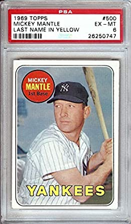 Amazoncom Mickey Mantle 1969 Topps Vintage Baseball Card
