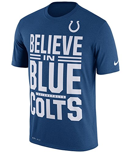 Nfl Indianapolis T-shirts Colts (NIKE Mens Indianapolis Colts Local Fans Graphic T-Shirt Blue S)