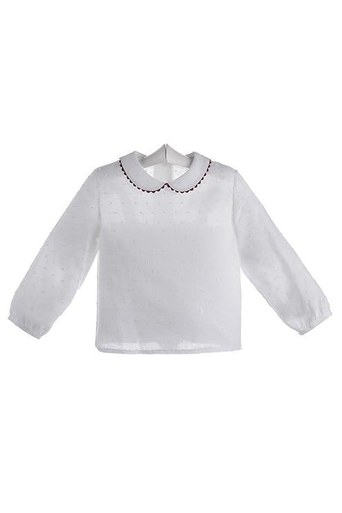 Ancar - Camisa blanca para bebé de plumeti - 12 meses, Blanco