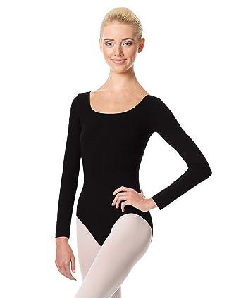 dcb073806 Amazon.com  Calla Dancewear Women Long Sleeve Martha Leotard  Clothing