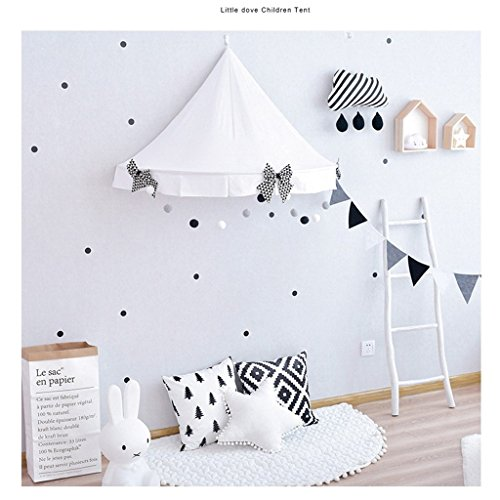 Lembeauty Round Lace Dome Mosquito Net Lace Princess Bed Canopy Play Tent Curtain for Kids Children Room