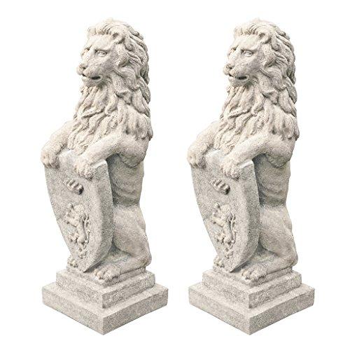 Design Toscano Beaumaris Castle Lion Sculpture - Set of Two