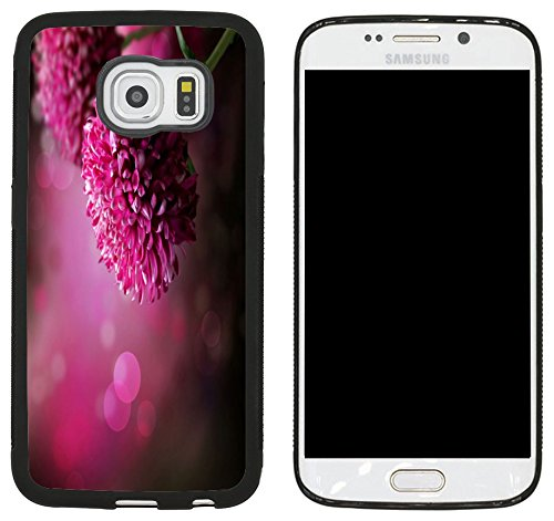 Case Dahlia Black (Rikki Knight Purple Dahlia Autumn Flower Design Samsung Galaxy S6 Edge Case Cover - Black)