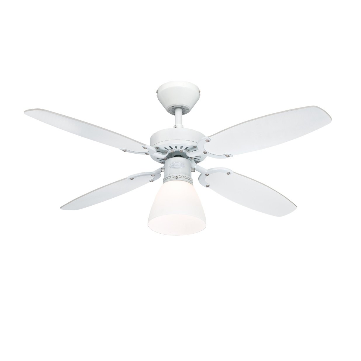 Westinghouse Capitol Indoor Ceiling Fan, Metal, White Westinghouse Lighting 7870840