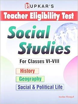 Teacher Eligibility Test Social Studies for Classes 5 - 8 price comparison at Flipkart, Amazon, Crossword, Uread, Bookadda, Landmark, Homeshop18