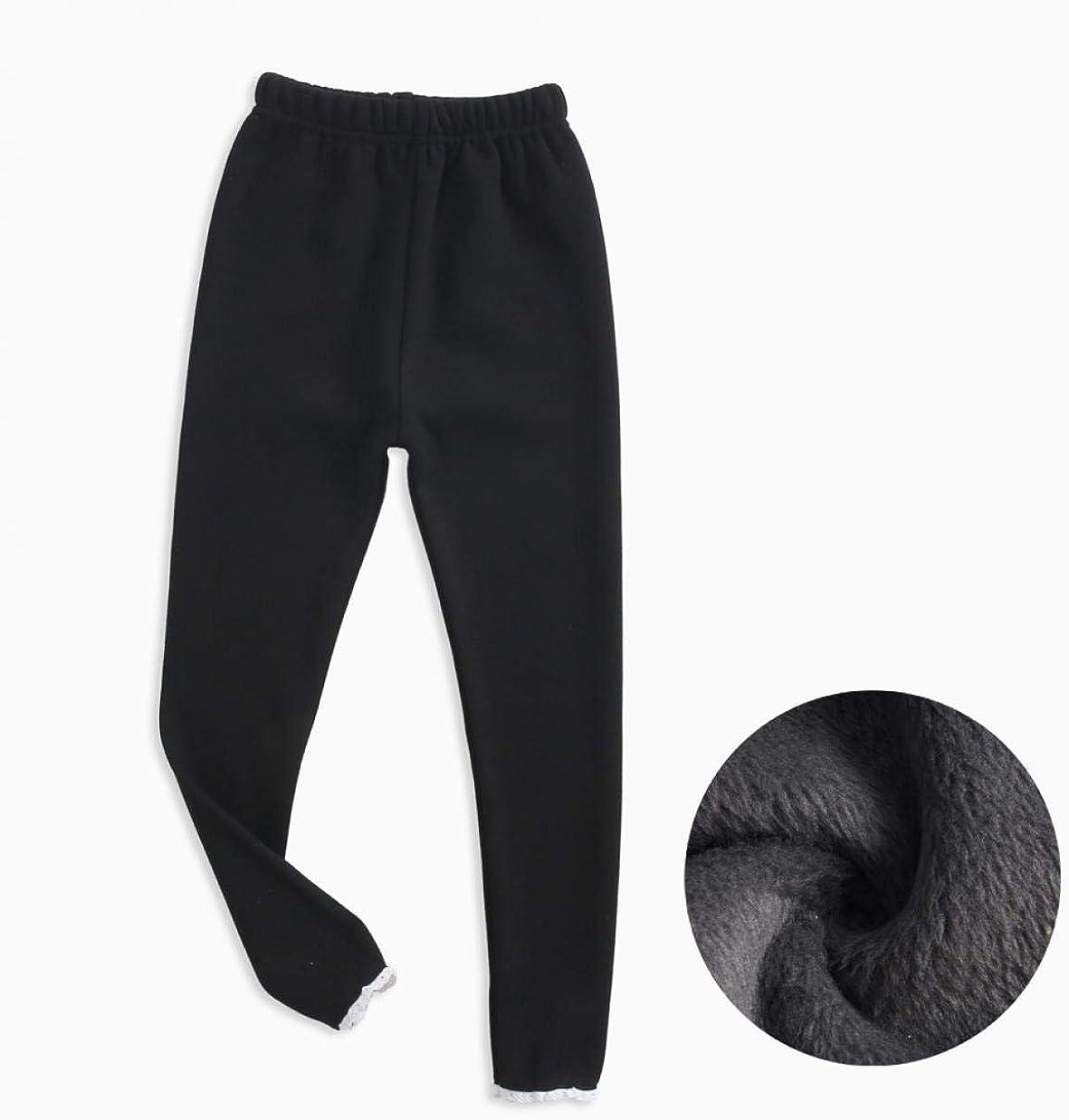 3-Pack WODISON pile ragazze Leggings base foderato pantaloni da jogging termici con ruches