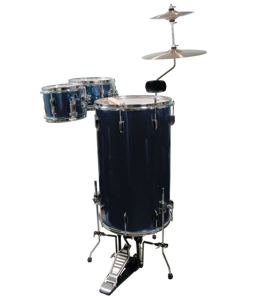 GP Percussion GP75MB Cocktail Drum Set (Midnight Blue) by GP Percussion