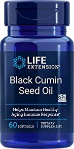 Life Extension Black Cumin Seed Oil, 60 softgels