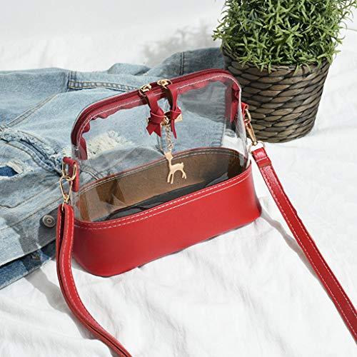 Rosso Artificiale Longra Tracolla Elegante Vintage Moda Spalla Borsa Borsetta Messenger A Pelle Donna 3 Bauletto Piccola 0r06q1