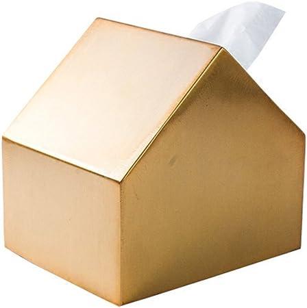 shanzhizui Latón Casa de metal caja de pañuelos Talla pequeña servilleta de papel: Amazon.es: Hogar