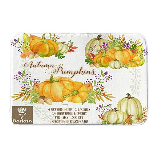 Halloween Decor KIKOY Pumpkin Series Welcome Door mats Indoor Home Carpets 40x60CM -