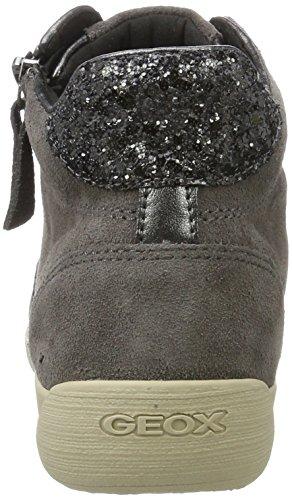 Geox D Myria C, Zapatillas Altas para Mujer Gris (Dk Grey)