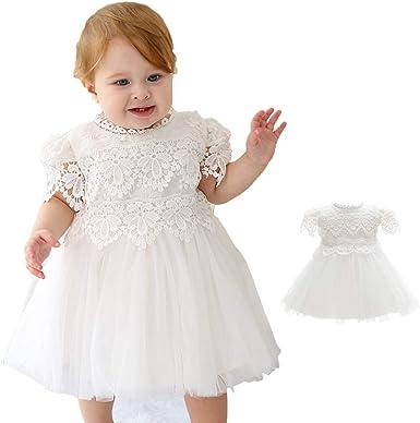 Ivory Baby Infant Girl Toddler Christening Baptism Bonnet Formal Dress 0-24Month