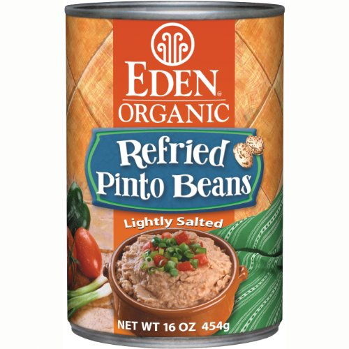 Eden Organic Refried Pinto Beans, 16-Ounce Cans (Pack of 12) by Eden
