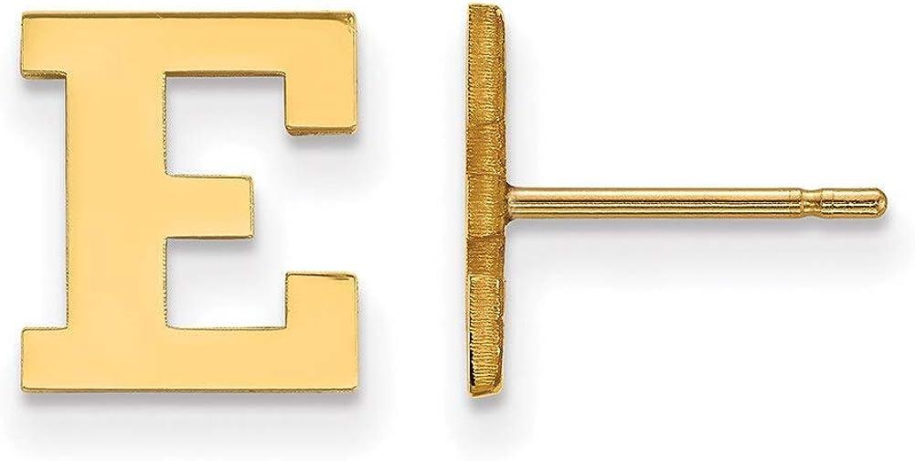 Lex /& Lu LogoArt Sterling Silver w//GP Eastern Michigan University XS Post Earringss