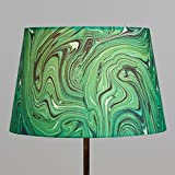 Green Malachite 100% Linen Accent Lamp Shade -10'' Dia. x 6.75''H