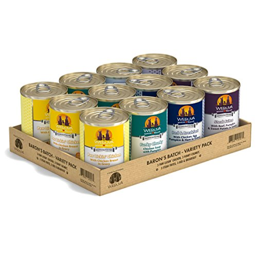 Weruva Classic Dog Food, Variety Pack, Baron's Batch, Wet Dog Food, 14oz Cans (Pack of 12) For Sale