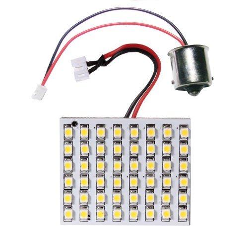 GRV Ba15s 1141 48-3528 SMD Warm White High Bright LED Bulb Lamp Car Interior Dome DC 12V Pack of 10