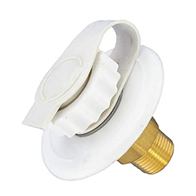"Valterra A01-0170LF White 2-3/4"" MPT Lead-Free Flush Mount Water Inlet(4 Pack) : Sports & Outdoors"