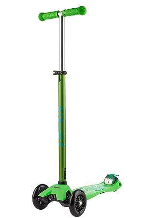 Micro Maxi Deluxe - Patinete 3 Ruedas 5-12 Años, Rodamientos ABEC9, Ruedas 120/80mm PU, Manillar Aluminio Regulable y Desmontable