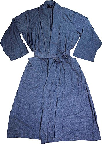Van Heusen Men's Jersey Knit Shawl Collar Robe, Navy, One Size - Jersey Knit Bath Robe