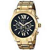 GUESS Men's U0193G1 Gold-Tone Chrongraph Watch with Date Function