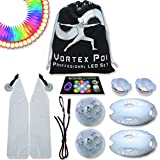 UltraPoi – Vortex Poi w/ UltraKnobs - LED Poi Set - Best Light Up Glow Poi - Flow Rave Dance - Spinning Light Toy