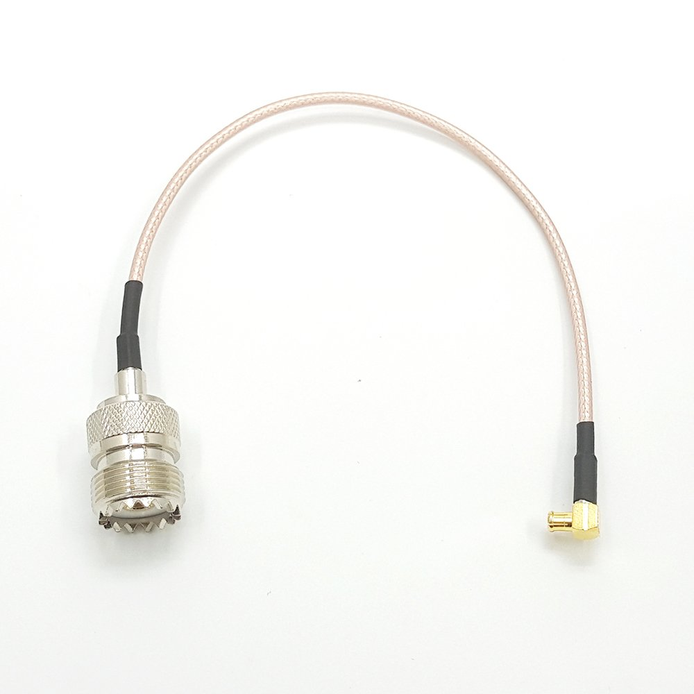UHF male to SO239 UHF female bulkhead right angle for car radio antenna RF cable