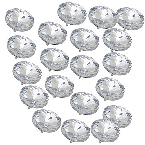 Decorative Crystal (Sofa Headboard Upholstery Crystal Buttons Soft Package Furniture decorative Accessories Pack of 20 (Diameter:25mm))