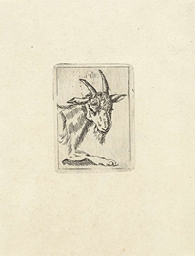 "Classic Art Poster - Head of a goat, Vincent van der Vinne Lee, 1808 - 1876 11"" x 14"""