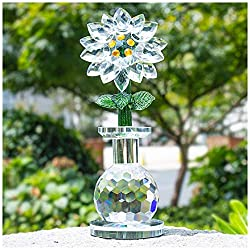 Crystal White Sunflower Figurine Table Decoration