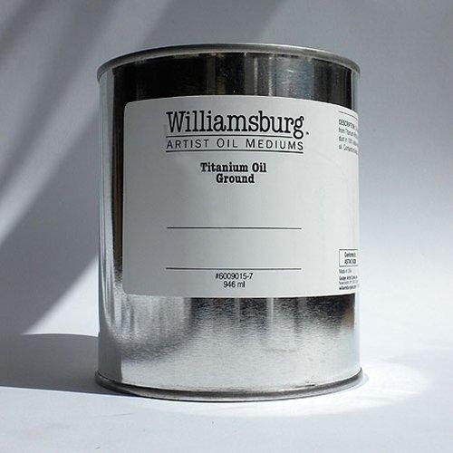- Williamsburg Artist Oil Mediums - Titanium Oil Ground - 32 oz Can