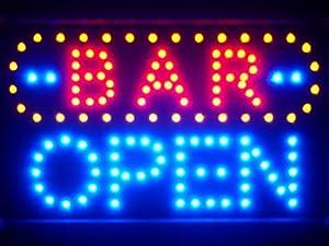 led072 b bar open led neon sign whiteboard kitchen home. Black Bedroom Furniture Sets. Home Design Ideas