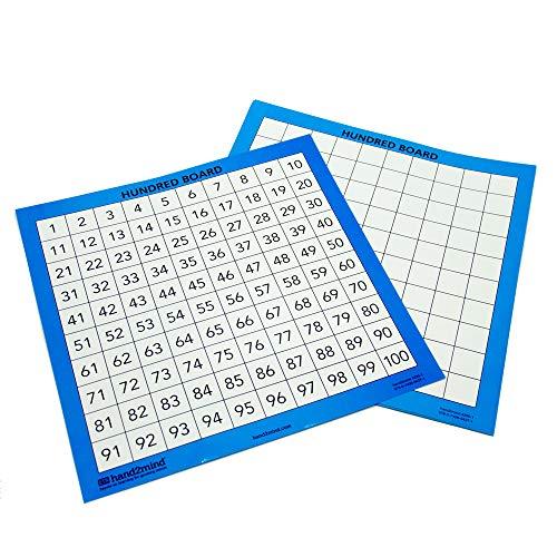ETA hand2mind Laminated Hundred Boards, Set of 10