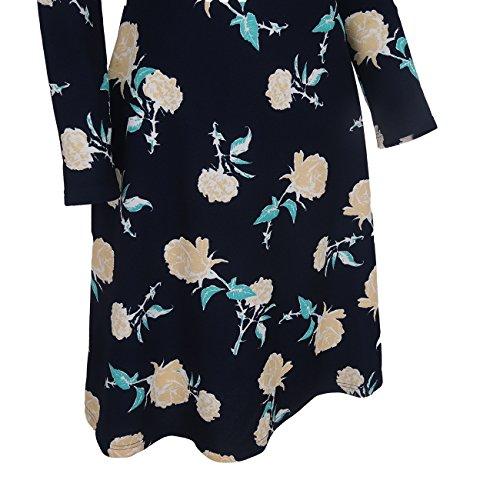 Polly Online Damen Cocktail Kleid Dunkelblau O7Se3GLH