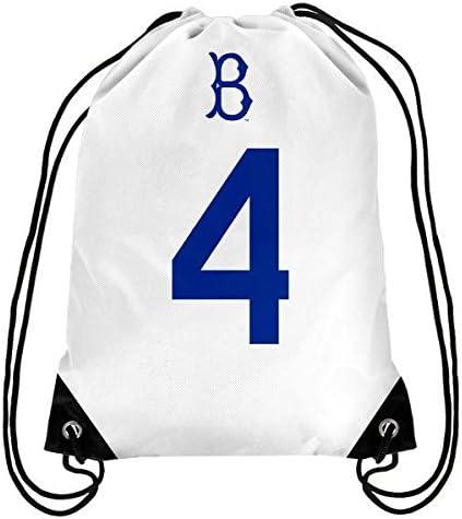 Los Angeles Dodgers High End Diagonal Zipper Drawstring Backpack