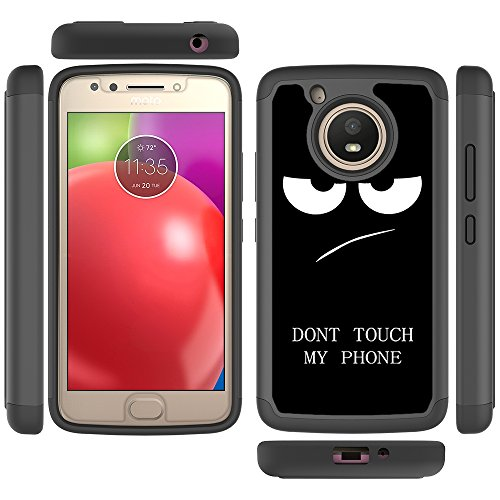 Moto E4 Case, Skmy Shockproof Impact Hybrid Dual Layer Defender Protective Cover rugged Armor Case for Motorola Moto E 4th Generation (My Phone) Photo #5