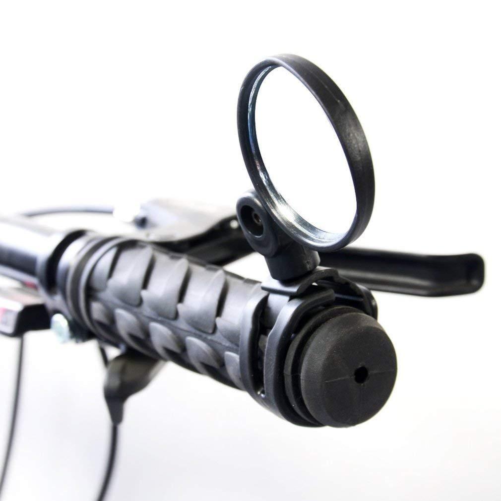 TOOGOO 1 Paio di specchietto retrovisore per Bici da cicloturismo Specchio Convesso Convesso con Obiettivo grandangolare e Impugnatura Universale Regolabile per Bici da Strada