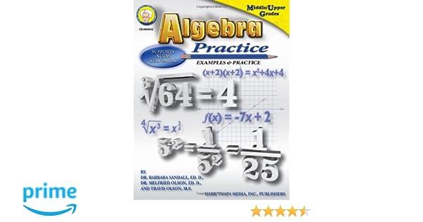 Algebra Practice: Examples & Practice, Middle / Upper Grades ...