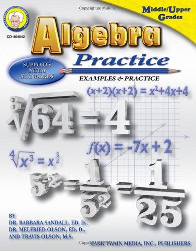 Algebra Practice: Examples & Practice, Middle / Upper Grades