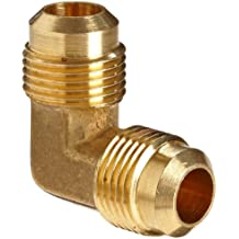Anderson Metals Brass Tube Fitting, 90 Degree Elbow, Flare