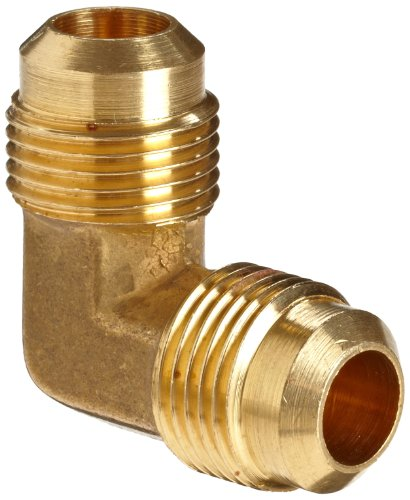 Anderson Metals Brass Tube Fitting, 90 Degree Elbow, 1/4