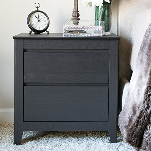 Baxton studio carolina contemporary 2 drawer nightstand - Espresso brown bedroom furniture ...