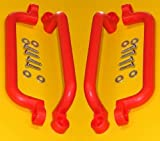 Handle Safety for Play Set Hand Grips Jungle Gym, Grab Bar for Swing Set Playgrounda Good Grip 13'' Long (Red, 2-Pair)