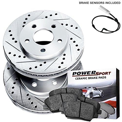 - Fit BMW 328i, 328xi, 323i, 325i Front Drill Slot Brake Rotors+Ceramic Brake Pad
